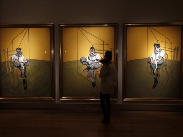 'Três estudos de Lucien Freud', de Francis Bacon (Foto: Lefteris Pitarakis/AP)