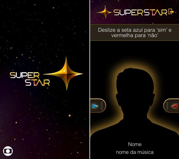 Simulação mostra o aplicativo do SuperStar, que já está disponível para download em dispositivos Android (Foto: Gshow)