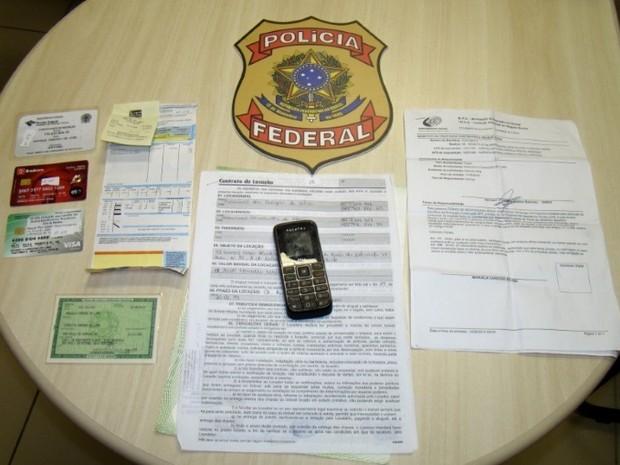 Documentos usados na tentativa de fraude no RN foram apreendidos (Foto: Dovulgação/PF)