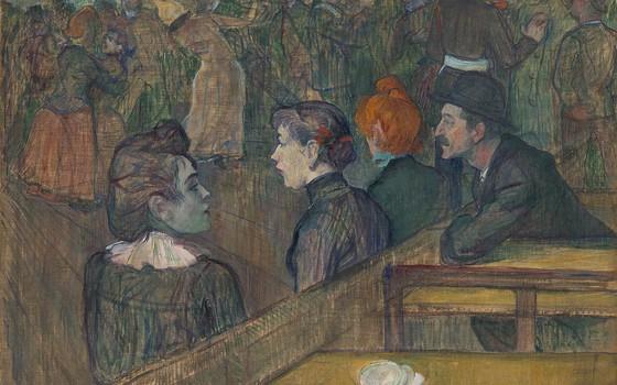 O quadro Moulin de la Galette, do pintor pós-impressionista Toulouse-Lautrec (Foto: Divulgação)
