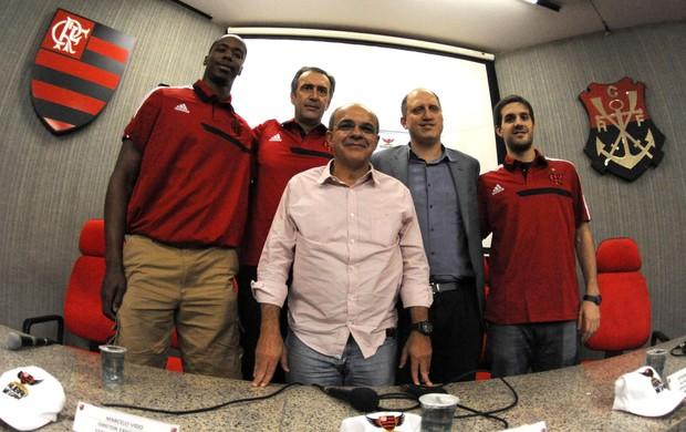 Jerome Meyinsse e Nicolás Laprovittola Flamengo Basquete (Foto: Alexandre Vidal / Flaimagem)