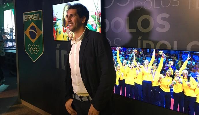 Maurício no Espaço Time Brasil (Foto: Foto: Márcio Mará)