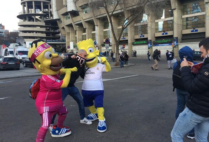 Simpsons no Santiago Bernabéu (Foto: Ivan Raupp)