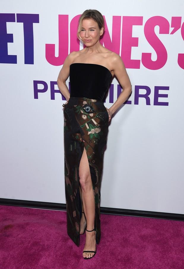 Renée Zellweger em première de filme em Nova York, nos Estados Unidos (Foto: Jamie McCarthy/ Getty Images/ AFP)