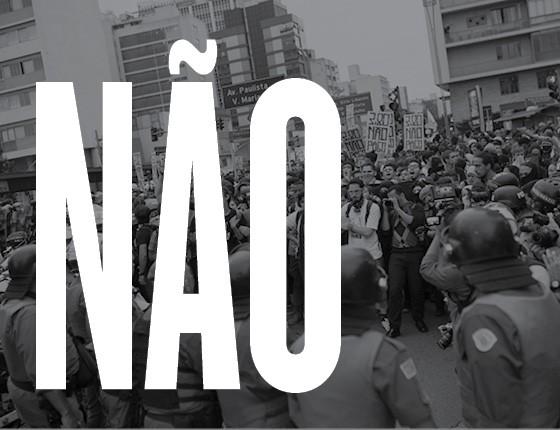 A polícia deve reprimir manifestações quando ela sai do trajeto? Não (Foto: ÉPOCA)