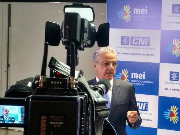 Robson Andrade, presidente da CNI (Foto: Laís Alegretti/G1)