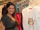 Grávida, Samara Felippo renova o guarda-roupa em shopping no Rio
