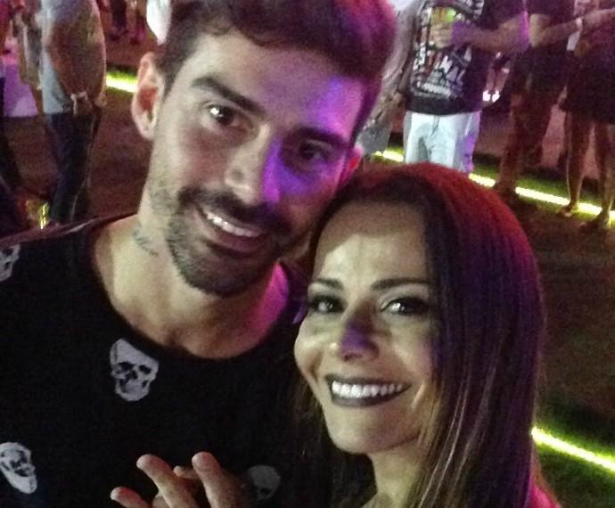 Viviane Araújo e Radamés (Foto: Arquivo Pessoal)