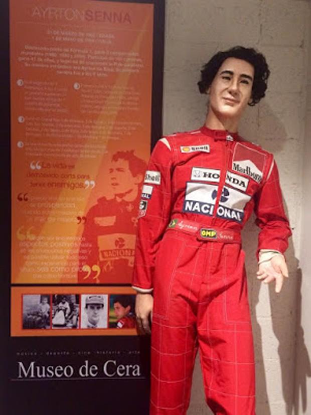 Estátua de cera de Ayrton Senna (Foto: Reprodução)