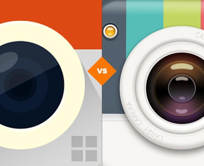 Comparativo Retrica X Candy Camera (Foto: Arte/TechTudo)