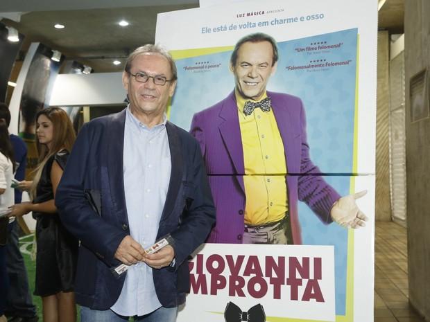 """José Wilker na estreia do filme """"Giovanne Imprortta"""" (Foto: Roberto Filho / AgNews)"""