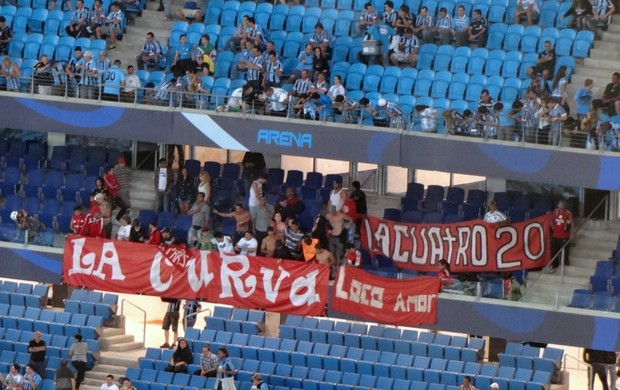 caracas grêmio chegada arena libertadores torcida (Foto: Hector Werlang/Globoesporte.com)
