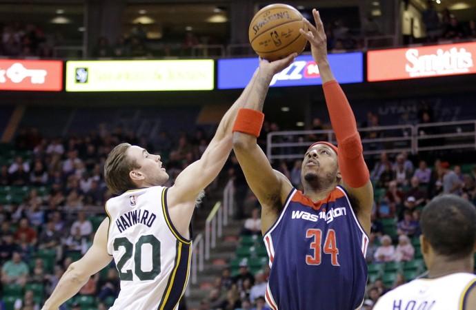 PaulPierce Wizards x Jazz NBA - AP (Foto: AP)
