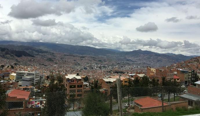 Vista de La Paz, capital administrativa da Bolívia (Foto: Diego Guichard)