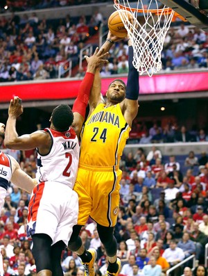 Paul George NBA indiana pacers x washington wizards (Foto: Agência AP )