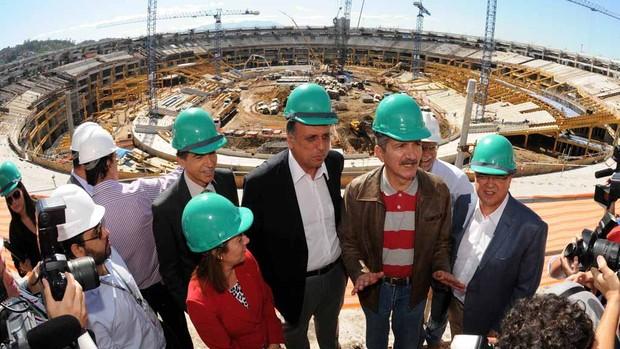 Visita do Ministro dos Esportes Aldo Rebelo ao Maracanã (Foto: Andre Durão / Globoesporte.com)