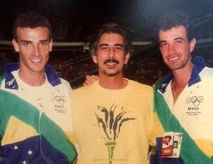 Emanuel, Zé Marco e Giovanni Marques, vôlei de praia (Foto: Arquivo CBV)