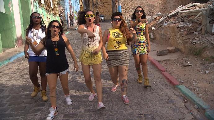 Coletivo Rima Mina usa o hip hop para conscientizar e empoderar mulheres (Foto: TV Bahia)