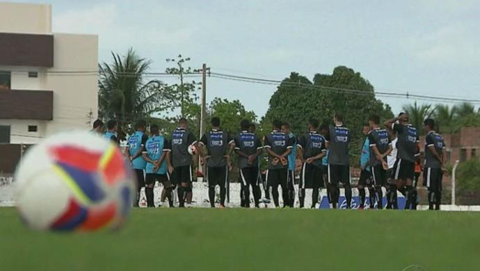 Botafogo-PB, treino, zaga, Maravilha do Contorno, João Pessoa (Foto: Reprodução / TV Cabo Branco)