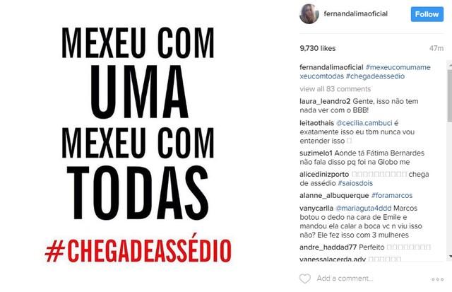 Postagem de Fernanda Lima (Foto: Reprodução/Instagram)