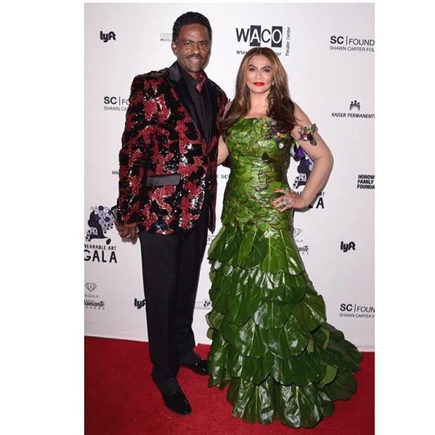 Tina Knowles e o marido (Foto: Reprodução/Instagram)