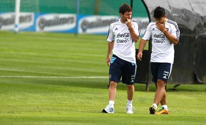 Messi e Aguero Argentina (Foto: Reprodução / Twitter)