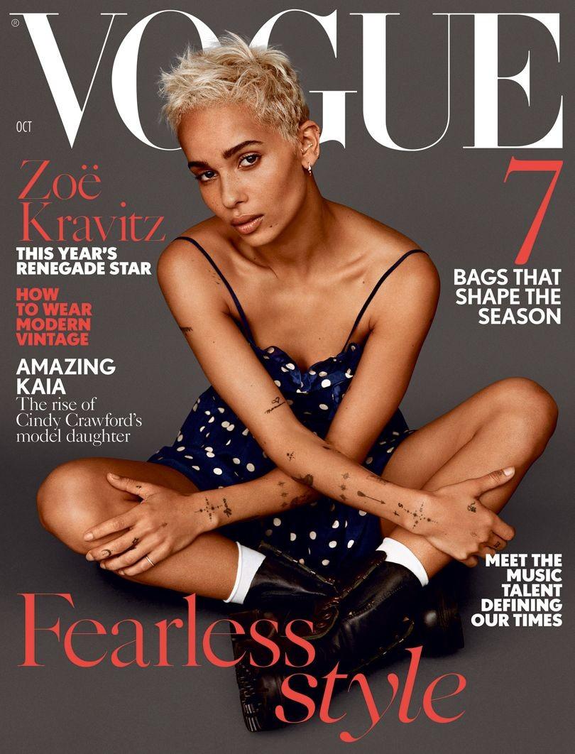 Zoë Kravitz na capa da Vogue Britânica (Foto: Alasdair McLellan)