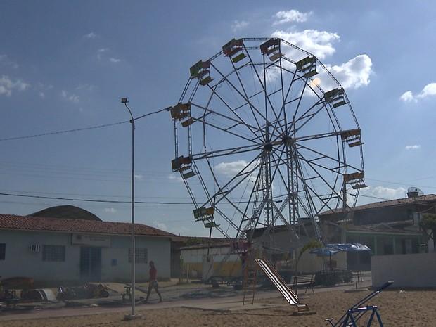 Criança morreu após descarga elétrica em parque de diversão em Itatuba, no Agreste da Paraíba (Foto: Reprodução/TV Paraíba)