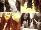 Ao lado de amiga, Lívian Aragão posa de óculos em rede social