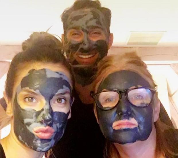 Alessandra Ambrosio, Dominick Pucciarello e Christy Coleman (Foto: Reprodução/Instagram)