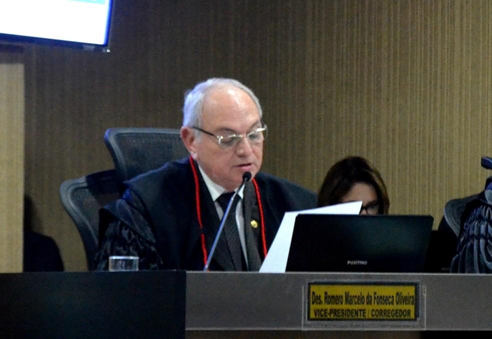 Desembargador Romero Marcelo da Fonseca Oliveira, vice-presidente e corregedor eleitoral do Tribunal Regional Eleitoral da Paraíba (TRE-PB) (Foto: Krystine Carneiro/G1)