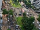 Manifestantes se reúnem em Campo Grande pelo impeachment da Dilma