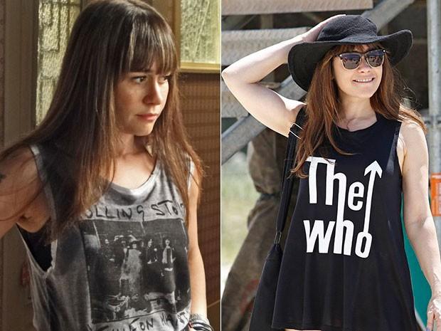 Susana tem uma coleção de blusas de banda. O look fica superestiloso em qualquer ocasião! (Foto: Gshow)