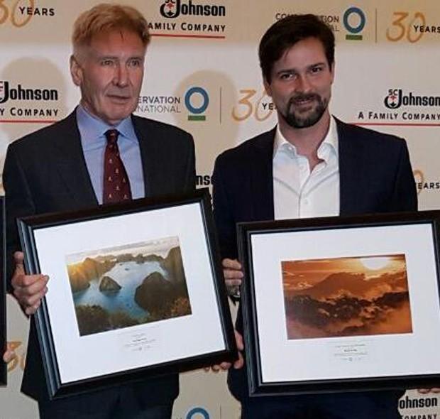 Harrison Ford e Luis Justo (Foto: Divulgação)