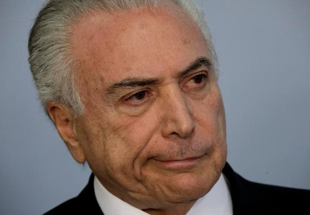 Presidente Michel Temer durante declaração no Palácio do Planalto, em Brasília (Foto: Ueslei Marcelino/Reuters)