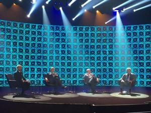 Encontro da Academia Internacional do Emmy aconteceu nesta quinta-feira (25), na Central Globo de Produções (Foto: G1)
