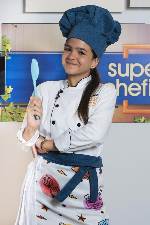 Mel Maia no Super Chefinhos, do Mais Você (Foto: Cesar Alves/TV Globo)