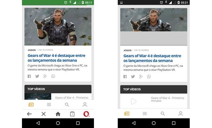 Na rede 2G, Chrome tem mais dificuldade de carregar fotos e vídeos (Foto: Reprodução/ Raquel Freire)