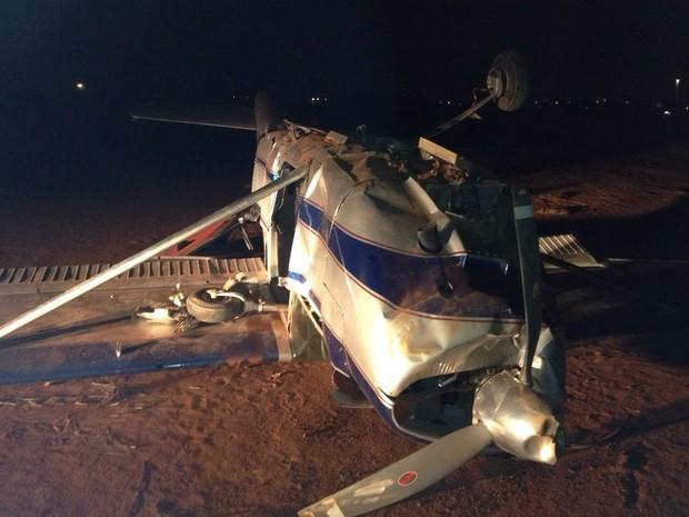 Acidente ocorreu no Centro Nacional de Paraquedismo (CNP). (Foto: Fabio Campos / TV TEM)