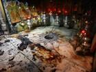 Gruta da Natividade em Belém é atingida por incêndio acidental