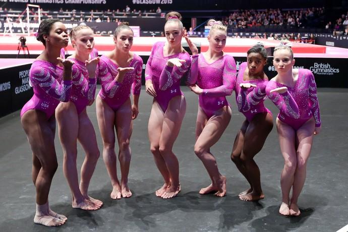 Equipe dos Estados Unidos dão show no Mundial de Glasgow (Foto: Ricardo Bufolin/CBG)