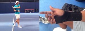 tenis rafael nadal treino lesão punho direito (Foto: Reprodução / Facebook)