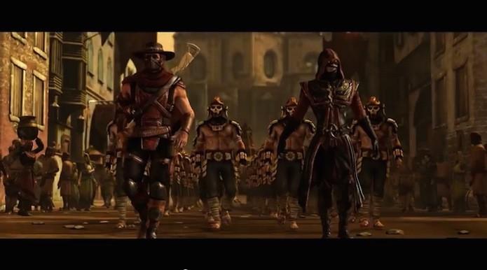 Espada de Erron na verdade é o braço de um dos guerreiros da raça de Baraka  (Foto: Reprodução)