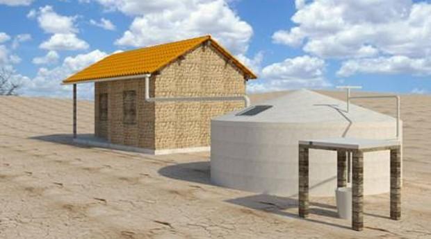 O reservatório da SDW se conecta à cisterna e ao encanamento das casas (Foto: Divulgação)