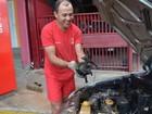 Bombeiros resgatam gato preso em motor de carro em Tupã