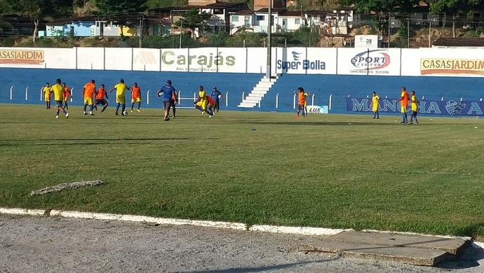 Treino do CSA nesta terça-feira (Foto: Augusto Oliveira / GloboEsporte.com)