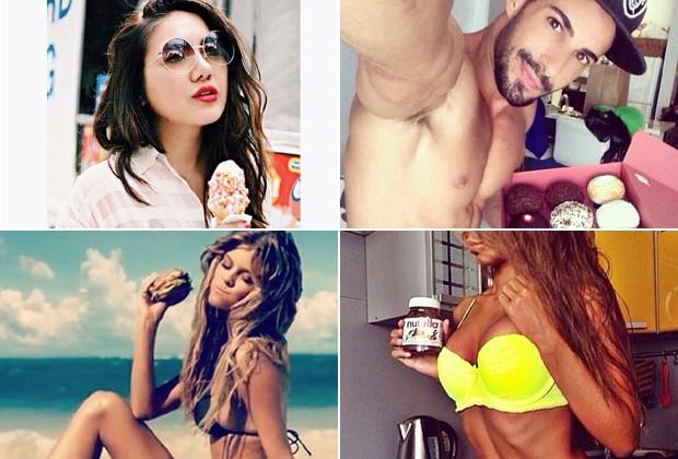 """Perfil do Instagram """"Você não come isso"""" brinca com fotos de modelos que posam com guloseimas"""
