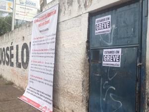 Professores da rede estadual de ensino entram em greve em Goiás (Foto: Fernanda Borges/ G1)
