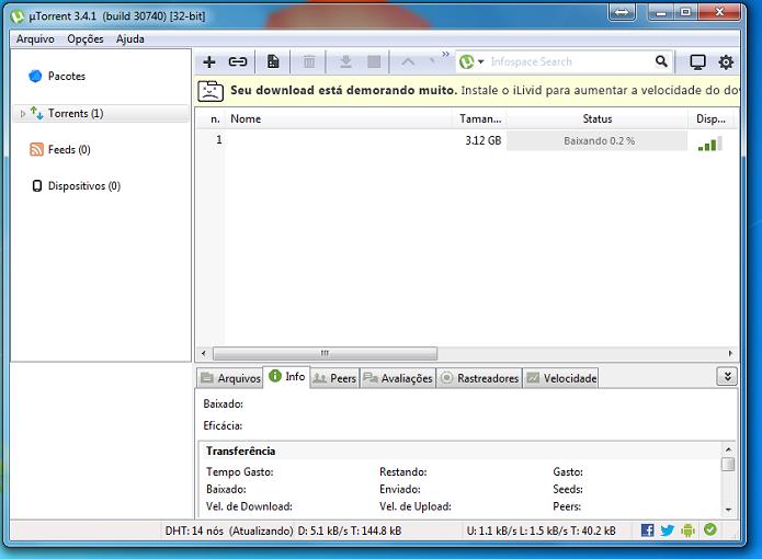 Conheça e resolva os erros do uTorrent (Foto: Reprodução/Edivaldo Brito) (Foto: Conheça e resolva os erros do uTorrent (Foto: Reprodução/Edivaldo Brito))
