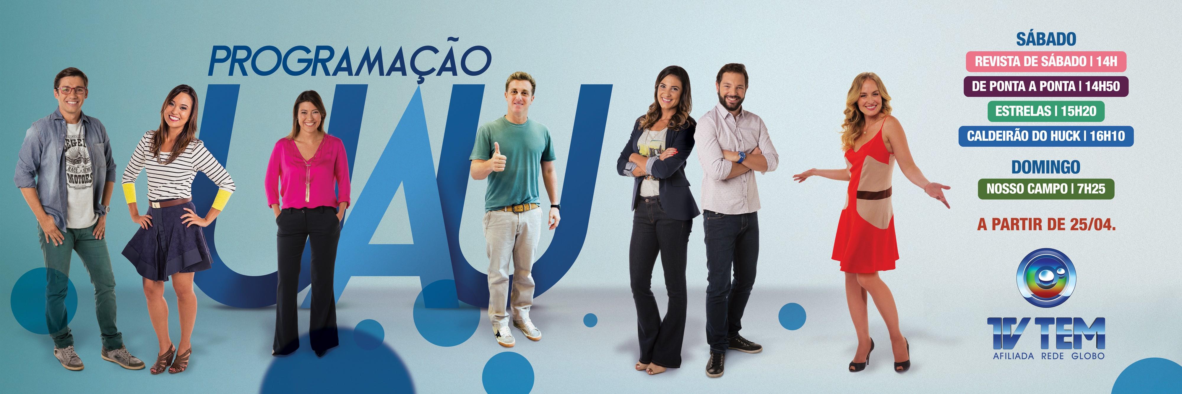 A TV TEM preparou novidades para o seu final de semana ficar UAU! (Foto: Arte/TV TEM)